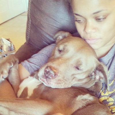 Andra and her dog Lucia (from instagram @andradaymusic)
