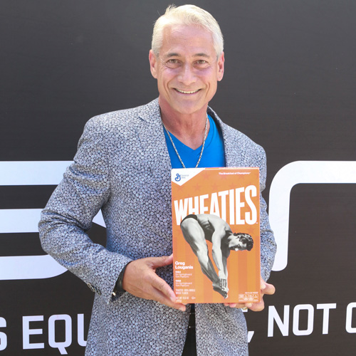 Olympic Gold Medalist Greg Louganis at Skins Presents Greg Louganis' Pre-ESPY Awards Wheaties Breakfast for Champions at The Starving Artists