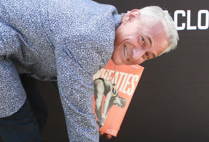 Gold Medalist Greg Louganis is Honored with Picture on Wheaties Box